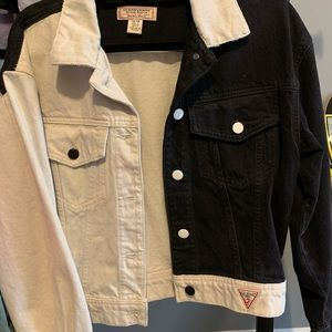 GUESS Colorblock Denim Jacket